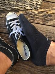 Converse Strip (feety64) Tags: feet füsse käsefüsse sneaker sneakers converse strip sweat smelly dufte fetisch fetish shoe socks socken