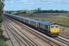 Sarah Slips South (JohnGreyTurner) Tags: br rail uk railway train transport 66 class66 shed gbrf coal hoppers colton york diesel engine locomotive yorkshire
