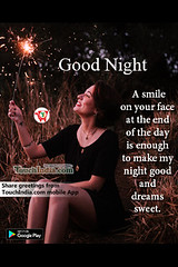 Good night (Touchindia.com) Tags: touchindia greetings wishes greetingwishes touchindiagreetings black blue nyc day new multicolour colours colors red flower nature white green yellow pink orange quotes life love happy smile goodnight sky sunlight bright outside naturaleza sunshine natur air contrast light moon national flickr girl hair preety