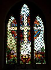 'harvest' window (quietpurplehaze07) Tags: harvestwindow church beauworth colourful stainedglass hampshire
