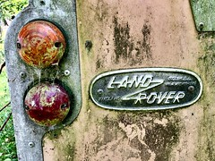 Rusting Land Rovers - Aberdeen Scotland - 12/9/18 (DanoAberdeen) Tags: pin plaque badge landrover aberdeen autumn amateur abz aberdeencity abandoned weathered scrap scrapped crusty rusty rusting automobile motor museum ancient danoaberdeen danophotography 2018 1960 60s sixties neglect neglected vintage classic unloved forgotten divorced alone candid old retired seperated goodbye regret cry sorrow uk gb british rip death junk