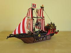 Black Scorpion Pirate Ship (yetanothermocaccount) Tags: lego moc pirate pirates ship