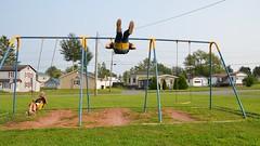 Everett & Daddy On The Swings (Joe Shlabotnik) Tags: swings aroostook 2018 august2018 everett vanburen peter maine playground proudparents afsdxvrzoomnikkor18105mmf3556ged