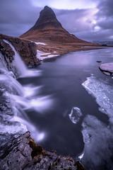 Twilight Love (Maddog Murph) Tags: twilight iceland kirkjufell kirkjufellfoss blue hour winter icy waterfall mountain