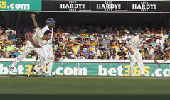 Mitchell Johnson, Gabba Ashes test, 2013 (cantdoworse) Tags: cricket test match brisbane gabba canon 60d peter siddle michael carberry