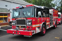 Third District Volunteer Fire Company Engine 14 (Triborough) Tags: pa pennsylvania buckscounty croydon tdvfd thirddistrictvolunteerfirecompany firetruck fireengine engine engine14 seagrave marauder ii