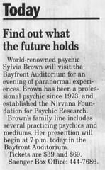 Sylvia Brown / Sylvia Browne (The Mandela Effect Database) Tags: affect mandela mandala mandelaeffect news newspaperscom sylvia brown browne namechange