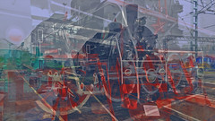 BaikalReise 75g (wos---art) Tags: bildschichtung russland transsibirische eisenbahn historisch ausgemustert stillgelegt schrottplatz ausgestellt präsentiert maschinengeschichte