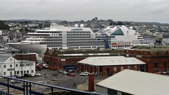 Seabourn Ovation Docked in Falmouth (occama) Tags: seabourn ovation cruise ship liner falmouth cornwall uk september 2018 harbour
