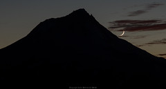 Moon and Mount Hood (John Behrends) Tags: