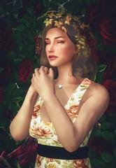 I wrap my freezing body with the memories of roses (Nickyxylr) Tags: female girl seat pretty waiting modding elder scrolls v skyrim portrait roses