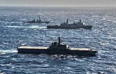 Steaming Ships 3, variant (sjrankin) Tags: navy usswasp lcac marines sailors usswasplhd1 pacificocean japan jpn 16september2018 edited usn unitedstatesnavy 180826nnm8060710 fleet