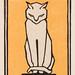 Sitting cat (1916) by Julie de Graag (1877-1924). Original from the Rijks Museum. Digitally enhanced by rawpixel.