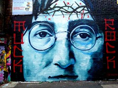 Liverpool urban art - Lennon (Tony Worrall) Tags: graffiti street art arty liverpool scouse merseyside north northern