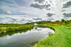 Little house over thery (Paul Wrights Reserved) Tags: river leadinglines leading clouds sky skyscape cloudscape cloud cloudy scene scenic landscape landscapes landscapephotography grass reflection reflections reflectionphotography trees tree