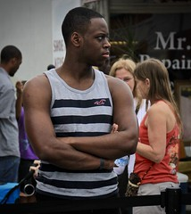 Black man in profile (LarryJay99 ) Tags: man men guy guys dude male studly manly dudes handsome streetpaintingfestival lakeworth street people stranger florida stud sexyman handsomeman facial facialhair bulges bulging verile