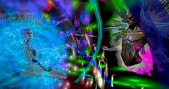 Shades of things to come !! (lilasantana) Tags: second life space lights art machinima fantasy role play