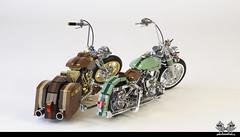 Harley Davidsons in Lego 1:10 (bricksonwheels) Tags: harleydavidson lego bricksonwheels nostarch scale model softtail street glide chromed bricks bricks4all