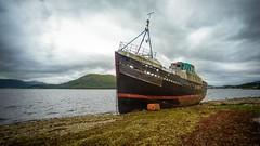 Abandoned ship on Loch Linnhe