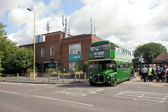 Leaving the garage for, almost, the last time (gooey_lewy) Tags: london country green line bus buses ariva amersham district motorbus society running day farewell garston gr garage anniversary transport summer bright lineregistration aec rml 2456 jjd 456d