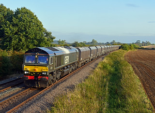 66779 4M86 Ely Mlf Papworth Sidings to Wellingborough Yard at Ashwell with HYAs for a change!
