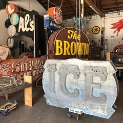 ICE (jericl cat) Tags: sanbernardino neon ice sign vintage arrow museumofneonart brownderby als liquor warehouse