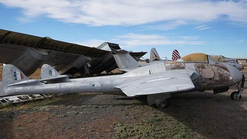 De Havilland English Electric DH 100 Vampire F3 in Valle