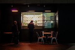 Two men at a Cafe (Leon Sammartino) Tags:
