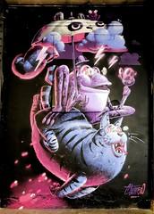 STOM 500 (Thethe35400) Tags: artderue arteurbano arturbain arturbà arteurbana calle grafit grafite grafiti graffiti graffitis graff mural murales muralisme plantilla pochoir stencil streetart schablone stampino tag urbanart wall chat crapeau grenouille