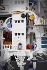 """Maersk Pier"" Detail (Markus ""madstopper78"" Ronge) Tags: steampunk legosteampunk legopotsdam legophotography legofan toyphoto toyphotography netbrix afol airship lego fullsteamlego moc"