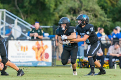 """PVHS v. Palatka-46 (mark.calvin33) Tags: football field sport ball """"high school"""" """"ponte vedra high pvhs block tackle rush run pass catch receiver blocker """"running quarterback fumble completion reception hike pitch snap """"friday night lights"""" fans stands kick """"end zone"""" """"nikon 2018 win athletics athletes """"night photography"""" """"sharks football"""" back d7100"""
