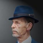 Portret van  man met hoed thumbnail