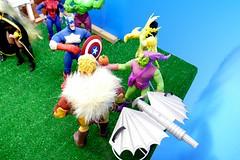 Happy Labor Day 2018 13 (MayorPaprika) Tags: captainamerica electro greengoblin sabertooth marvel toybiz famouscovers 112 custom diorama toy story paprihaven action figure set panasoniclumixdmcfz1000
