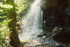 DR1-069-33 (David Swift Photography) Tags: davidswiftphotography pennsylvania jimthorpepa onokofalls waterfalls water streams nature forest candidportrait nikonfm2 film kodakportra 35mm