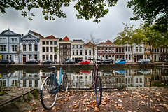 Bicycles and buildings @ Gouda (PaulHoo) Tags: gouda city urban nikon d750 architecture house 2018 bicycle reflection wideangle ultrawideangle samyang 14mm hdr
