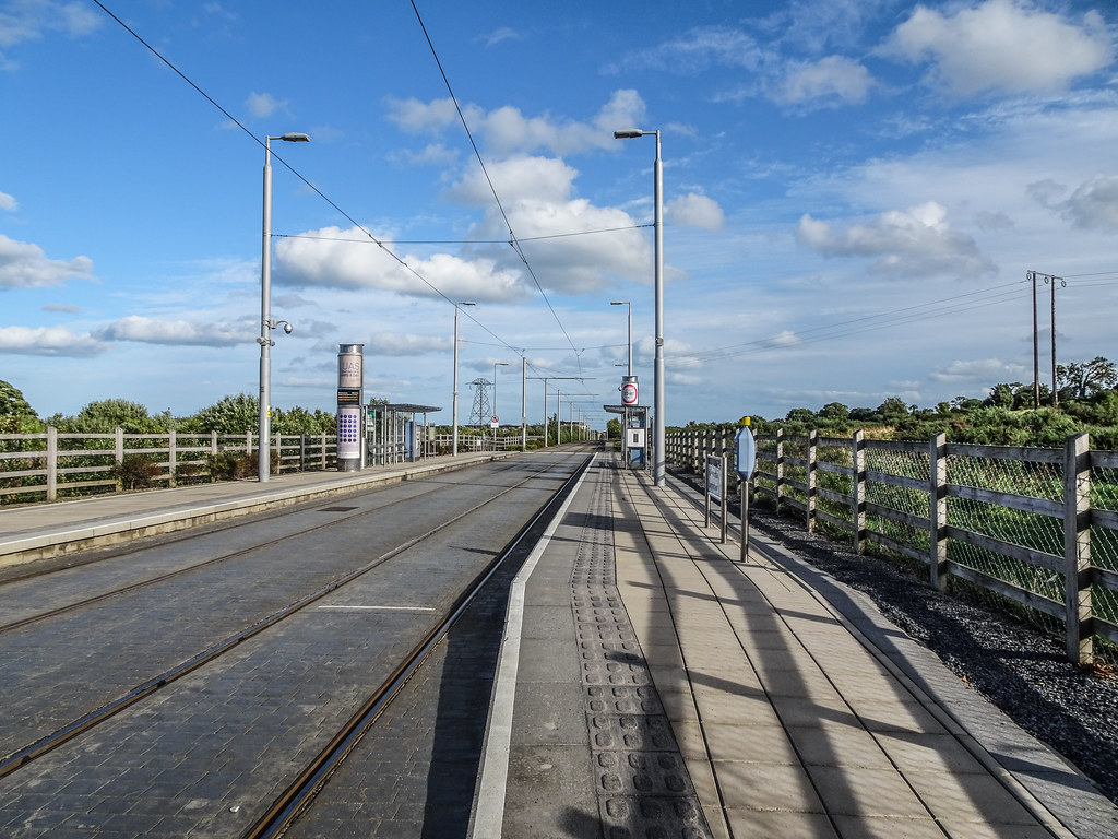 THIS IS LAUGHANSTOWN LUAS TRAM STOP [NOT LOUGHLINSTOWN]-144156