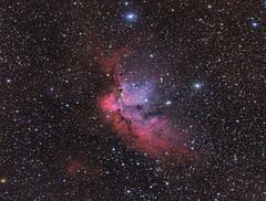 NGC 7380 Wizard Nebula LRGB (Chuck Manges) Tags: qhy optolong celestron hyperstar wizardnebula cepheus astrometrydotnet:id=nova2781567 astrometrydotnet:status=solved