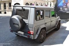 Mercedes Brabus G63 AMG B63-620 (Monde-Auto Passion Photos) Tags: voiture vehicule auto automobile mercedes brabus g63 g63amg amg gris grey sportive mat 4x4 suv rare rareté france paris