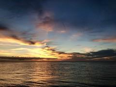 Sunset beach sunset (kirsten.eide) Tags: vacation beach ocean sunset clouds iphone