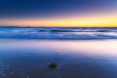 New Day Cloudless Sunrise Seascape (Merrillie) Tags: daybreak sunrise seashore nature dawn australia surf centralcoast morning weather newsouthwales waves noraville nsw sea beach ocean sky landscape earlymorning coastal waterscape outdoors seascape hargravesbeach coast water seaside