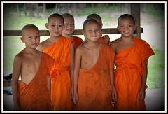 De jeunes moines du coté dans Muang Sing dans un temple perdu du Laos (scoubidou13) Tags: asie asia laos moine