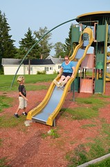 Grandma On The Slide (Joe Shlabotnik) Tags: 2018 aroostook slide august2018 everett vanburen maine playground nancy afsdxvrzoomnikkor18105mmf3556ged