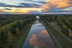 Autumn Canal (Taavi Salakka) Tags: dji spark finland autumn fall sunset forest canal water sky landscape waterscape reflection reflect cloudsinsunset