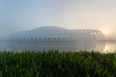 Florida Polytechnic University Sun and Fog (Photomatt28) Tags: florida floridapolytechnicuniversity lakeland reflection