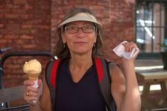041 -1vib (citatus) Tags: friend woman ice cream cone distillery district toronto canada summer afternoon 2018 pentax k3 ii