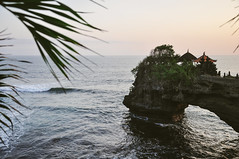 sundowner by the sea (marin.tomic) Tags: bali indonesia ocean sea waves sunset temple tanahlot asia asian southeastasia nikon d90 travel summer holiday vacation traveler