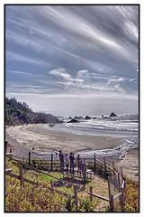 Ocean viewing, Oregon coast (kathender1) Tags: ocean water beach sky clouds oregon cannonbeach sand sea pacificocean