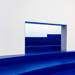 blue & white II (morbs06) Tags: belgianpavillion biennale2018 italy traumnovelleroxanelegrelle venice abstract architecture blue building colour curves geometry light lines repetition square stripes wall white