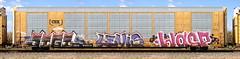 Jigl/Levis/Wasp (quiet-silence) Tags: graffiti graff freight fr8 train railroad railcar art jigl levis wasp mfk ld syw autorack csx cttx690578