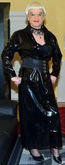 Birgit027321 (Birgit Bach) Tags: dress kleid pvc buttonthrough durchgeknöpft shiny glänzend